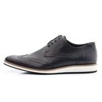 Sapato Casual Oxford Masculino Couro Preto 516