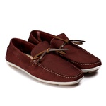 Mocassim Casual Youth Couro Bordô 5005
