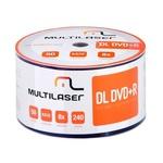 DVD+R DL 8.5GB /8X - MULTILASER - PRINTABLE 600UN.