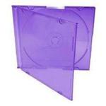 Box CD Acrílico Slim - Roxo c/05un.