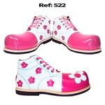 Sapato de Palhaça Flores Tipo Botinha Infantil