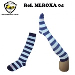 MEIA LISTRADA ROXA Ref MLROXA 04