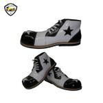 Sapato de Palhaço Branco/Preto Detalhe de Estrela Ref 600
