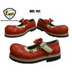 Sapato de Palhaço Feminino Vermelho com Laço Ref 903