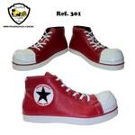 Sapato de Palhaço ClownStar Vermelho Ref 301infantil