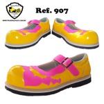 Sapato de Palhaço Feminino Amarelo/Rosa Ref 907