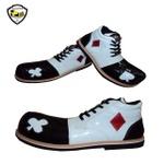 Sapato de Palhaço Branco/Preto Naipes Baralho Ref 511