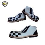 Sapato de Palhaço Infantil Quadriculado Preto/Branco Ref 603