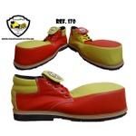 Sapato de Palhaço Laranja com Amarelo Ref 170