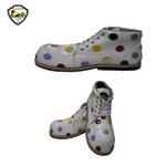 Sapato de Palhaço Branco com Bolinhas Coloridas Ref 404
