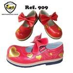 Sapato de Palhaço Feminino Vermelho Coração Ref 909
