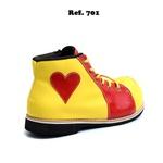 Sapato de Palhaço Amarelo/vermelho com Detalhe de Coração Ref 701