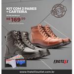 Kit com 2 Coturnos em couro + carteira(777/444)