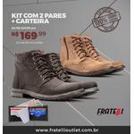 Kit com 2 Coturnos em couro + carteira(182/183)