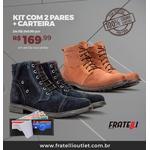 Kit com 2 Coturnos em couro + carteira(294/181)