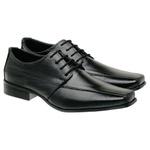 Sapato Social Em Couro Preto 01Fp