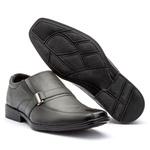 Sapato em couro bico quadrado Embuia FT