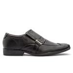Sapato em couro bico quadrado preto FT
