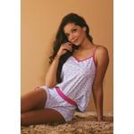 Pijama Verão Floral Pink Azul Claro Alcinha em Microfibra - ESTAMPADA