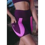 Short Fitness Deluxe Bolso Faixa Pink New Zealand em Microfibra - ROXO