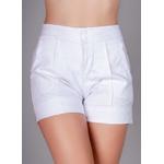 Short Nervura Jeans em Viscose - BRANCO