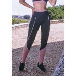 Calça Fitness Preto Filetes Callas New Zealand em Microfibra - PRETO