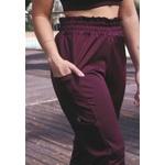 Calça Fitness Jogger Recorte com Bolso Brilho em Microfibra - ROXO