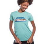 Camiseta Feminina Funfit - Só Treino Pra Comer Verde