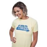 Camiseta Feminina Funfit - Só Treino Pra Comer Amarela