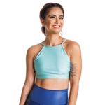 Top Feminino Funfit - Yoga Menta