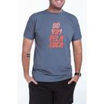 Camiseta Masculina Funfit - Só Vim Pela Coca Cinza