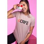 Camiseta Feminina Funfit - Só Pego Com Café Rosa