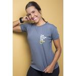Camiseta Feminina Funfit - The Brand With The Smile Cinza