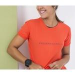 Camiseta Feminina Funfit - Endorphinaholic Laranja