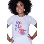 Camiseta Feminina Funfit - 10k 21k 42k Ainda Pelejando