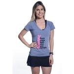 Camiseta Feminina Funfit - Faço Yoga Mas Não Sou Calma
