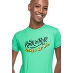 Camiseta Feminina Funfit - Rock Roll Makes Me Run