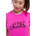 Camiseta Feminina Funfit - 42K Deus me livre mas quem me dera