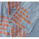 Camiseta Feminina Funfit - Linda E Ainda Madrugo Pra Treinar Bio azul BB