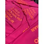 Camiseta Feminina Funfit - Linda e Ainda Madrugo Pra Treinar Pimenta Rosa Premium