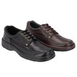 Combo 2 Pares Sapato Masculino Casual Em Couro Com Cadarço Galway 2020 Preto/Café