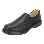Sapato Masculino Conforto em Couro Preto Tipo Anti-Stress Galway 2001