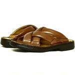 Chinelo Masculino Conforto Em Couro Whisky Tipo Anti-Stress Galway 3055