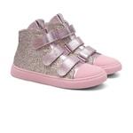 Tênis Sneaker Glitter Gats Menina Cano Alto