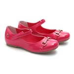 Sapatilha Feminino Verniz Pink Infantil Gats