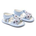 Sandália de Pérolas Feminina Azul Baby Gats