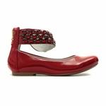 Sapato de Tornozeleiras Infantil Verniz Vermelho Gats