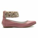 Sapato de Tornozeleiras Verniz Rosa Infantil Gats