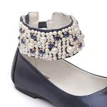 Sapato Tornozeleira Azul