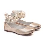 Sapato Tornozeleira Dourado